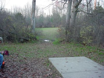 Mississinewa State Park, Main course, Hole 16 Tee pad