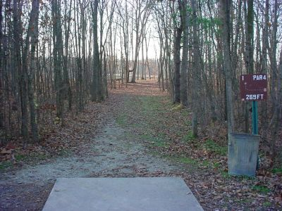 Mississinewa State Park, Main course, Hole 1 Tee pad