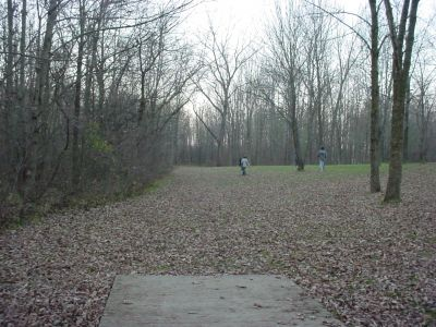 Mississinewa State Park, Main course, Hole 18 Tee pad