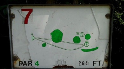 Deming Park, Main course, Hole 7 Hole sign