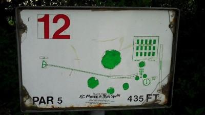 Deming Park, Main course, Hole 12 Hole sign