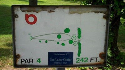 Deming Park, Main course, Hole 6 Hole sign
