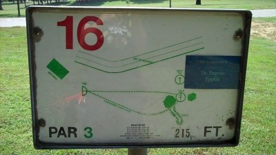 Deming Park, Main course, Hole 16 Hole sign