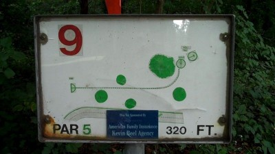 Deming Park, Main course, Hole 9 Hole sign