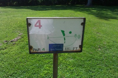 Deming Park, Main course, Hole 4 Hole sign