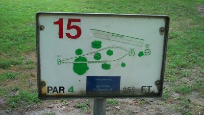 Deming Park, Main course, Hole 15 Hole sign