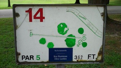 Deming Park, Main course, Hole 14 Hole sign