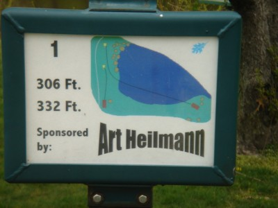 Rogers Lakewood Park, Main course, Hole 1 Hole sign
