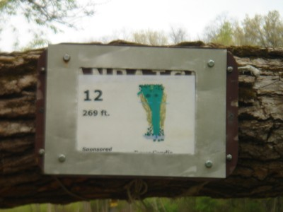 Rogers Lakewood Park, Main course, Hole 12 Hole sign