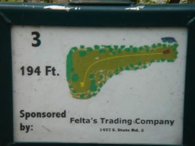 Rogers Lakewood Park, Main course, Hole 3 Hole sign