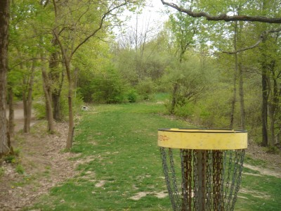 Rogers Lakewood Park, Main course, Hole 11 Reverse (back up the fairway)