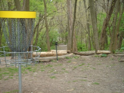 Rogers Lakewood Park, Main course, Hole 3 Reverse (back up the fairway)