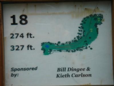 Rogers Lakewood Park, Main course, Hole 18 Hole sign