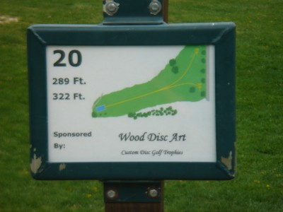 Rogers Lakewood Park, Main course, Hole 20 Hole sign