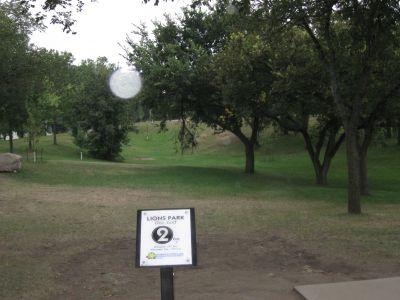 Lions Hillside Park, Main course, Hole 2 Long approach