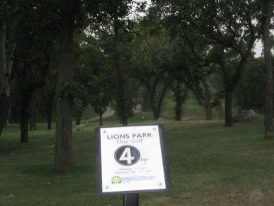 Lions Hillside Park, Main course, Hole 4 Long approach