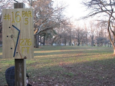 Garfield Park, Main course, Hole 16 Long approach