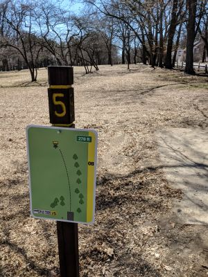 Garfield Park, Main course, Hole 5 Tee pad