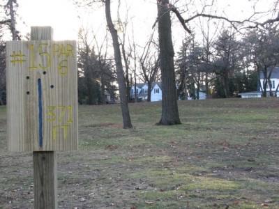 Garfield Park, Main course, Hole 15 Long approach