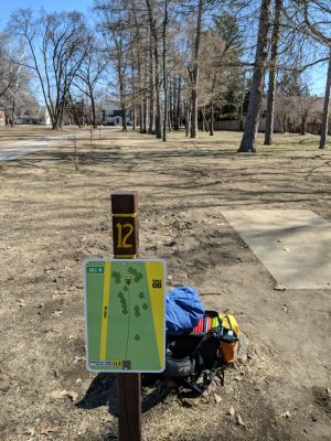 Garfield Park, Main course, Hole 12 Tee pad