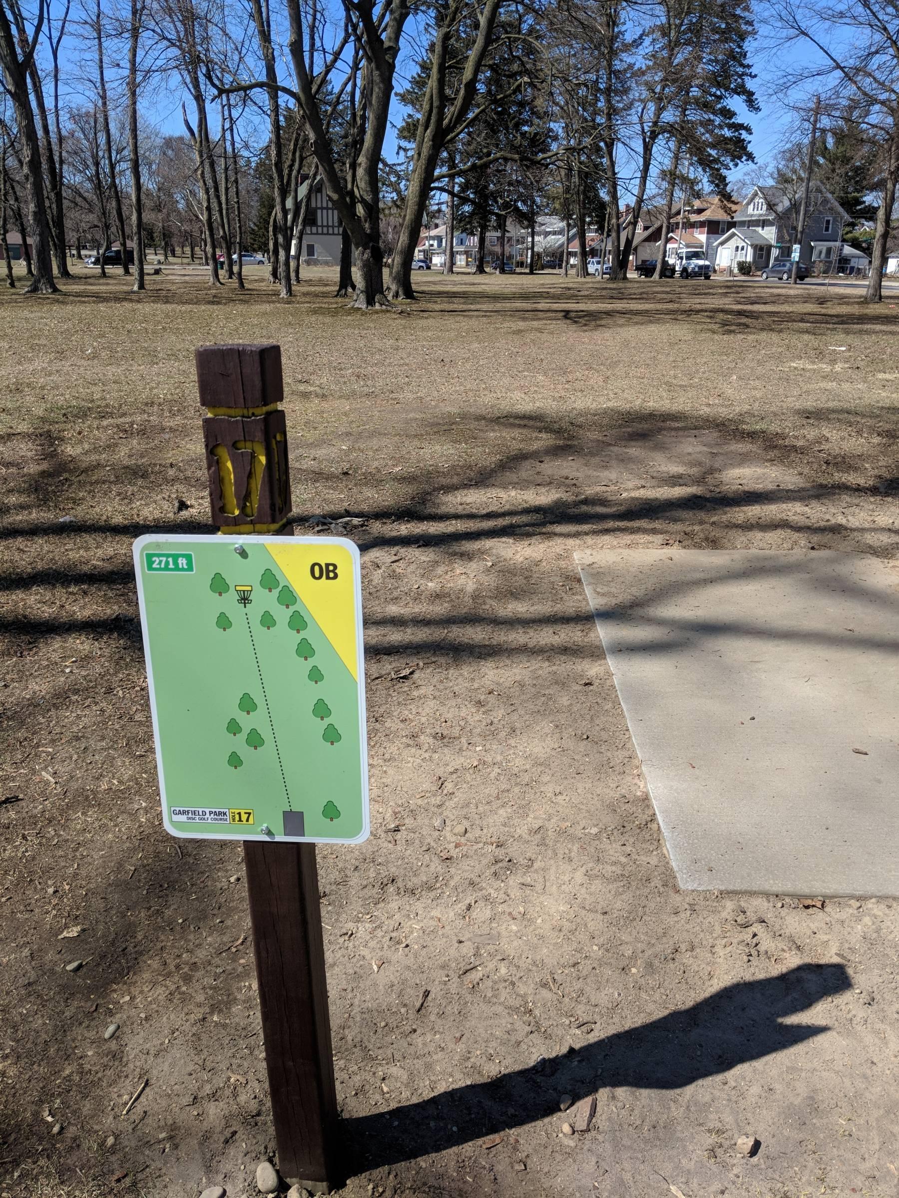 Hole 17 Garfield Park Grand Rapids Mi Disc Golf Courses Disc Golf Scene