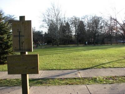 Garfield Park, Main course, Hole 9 Long approach