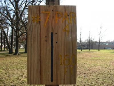 Garfield Park, Main course, Hole 7 Hole sign