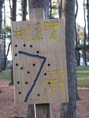 Garfield Park, Main course, Hole 12 Hole sign