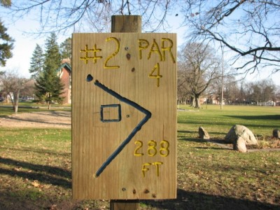 Garfield Park, Main course, Hole 2 Hole sign