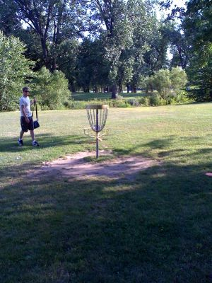 Riverside Park, Main course, Hole 10 Reverse (back up the fairway)
