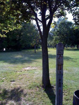 Riverside Park, Main course, Hole 6 Hole sign