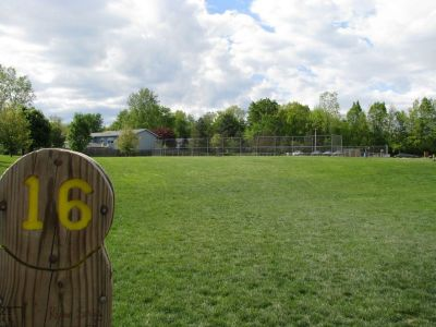 Old Farm Park, Main course, Hole 16 Tee pad