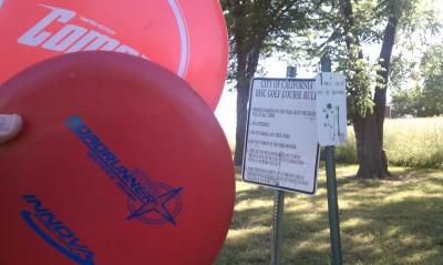 Proctor Lake Park, Main course, Hole 1 Hole sign