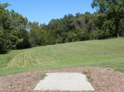 Joseph C. Miller DGC @ Binder Lake Park, Main course, Hole 11 Tee pad
