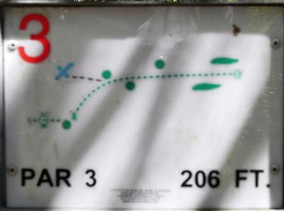 Joseph C. Miller DGC @ Binder Lake Park, Main course, Hole 3 Hole sign