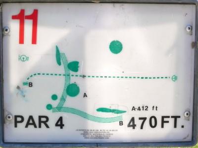 Joseph C. Miller DGC @ Binder Lake Park, Main course, Hole 11 Hole sign