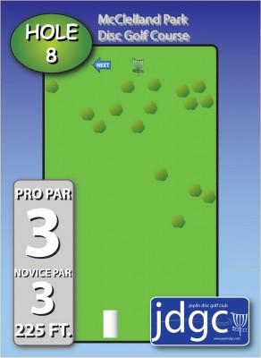 McClelland Park, Main course, Hole 8 Hole sign