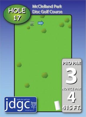 McClelland Park, Main course, Hole 17 Hole sign