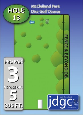 McClelland Park, Main course, Hole 13 Hole sign