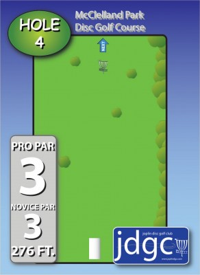 McClelland Park, Main course, Hole 4 Hole sign