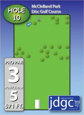 McClelland Park, Main course, Hole 10 Hole sign