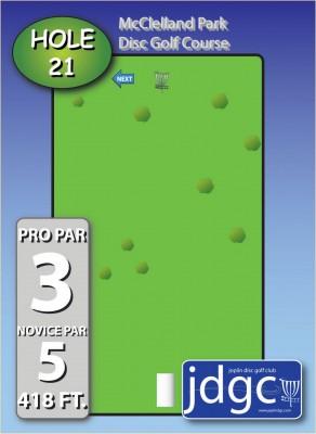McClelland Park, Main course, Hole 21 Hole sign
