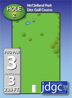 McClelland Park, Main course, Hole 2 Hole sign