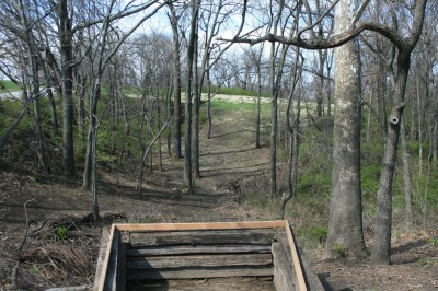 Kessler Park (Cliff Drive), Main course, Hole 1 Tee pad