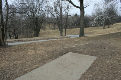 Water Works Park, Main course, Hole 12 Tee pad