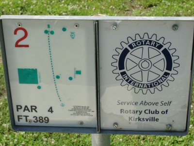Rotary Park, Main course, Hole 2 Hole sign