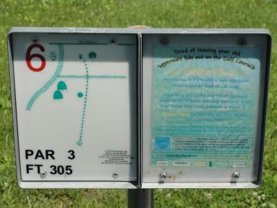Rotary Park, Main course, Hole 6 Hole sign