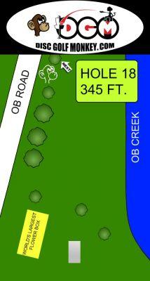 Morse Park North, Main course, Hole 18 Hole sign