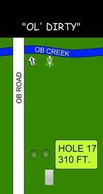Morse Park North, Main course, Hole 17 Hole sign
