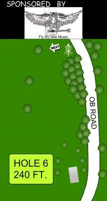 Morse Park North, Main course, Hole 6 Hole sign